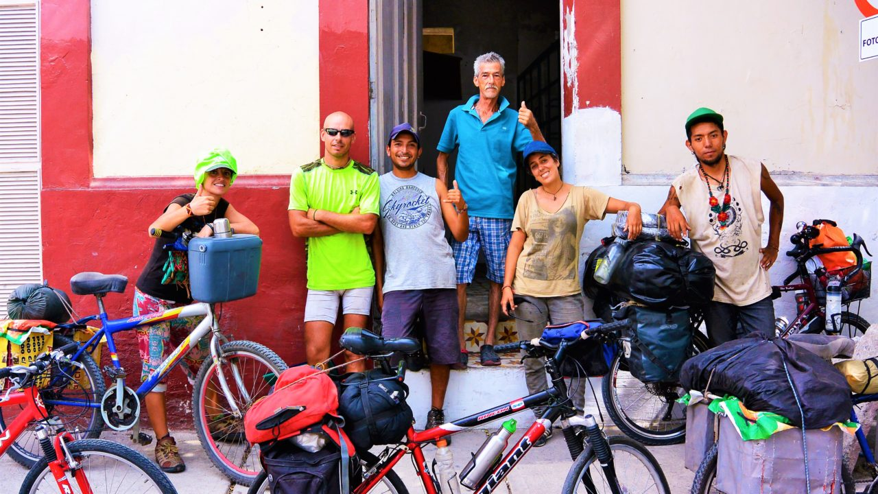 Bike Touring friends in Santa Marta colombia