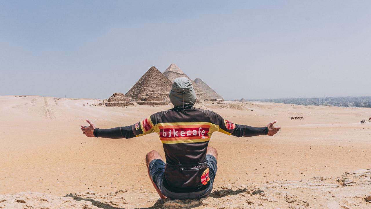 davide travelli at the pyramids in cairo