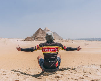 davide travelli at the pyramids in cairo